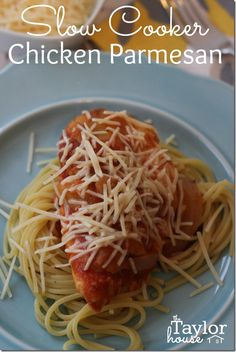 Slow Cooker Chicken Parmesan, Easy Slow Cooker Recipes, Chicken Parmesan