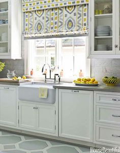 Designer Kitchens - Pictures of Beautiful Dream Kitchens - House Beautiful Nice sink