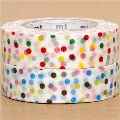 mt Washi Masking Tape deco tape set 2pcs with dots