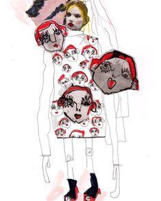 shrimps aw16 • by British fashion illustrator Elyse Blackshaw