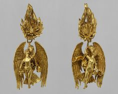 Ganymede Jewelry, Hellenistic, 330–300 B.C. Earrings detail.