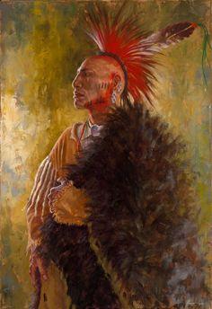 Ozark Mountain Warrior | Osage Nation Painting | James Ayers