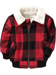 Buffalo-Plaid Bomber Jackets for Baby Product Image