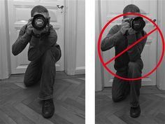 Learn to shoot your DSLR like a rifle with tips from a US Army officer.