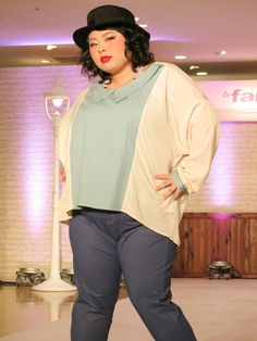 La Farfa, the first plus-size Japanese fashion magazine, recently threw the first plus-size Japanese fashion show with readers models | via Fashionsnap.com