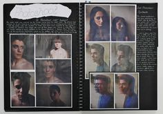 A2 Graphic Communication, A3 Black Sketchbook, Photoshoot, CSWK Theme 'Flaws, Perfections, Ideals and Compromises', Thomas Rotherham College, 2015-16