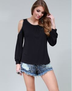 BLUSA VISCOLYCRA OPEN-SHOULDER - TPML0145