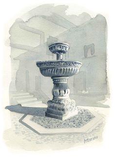 Pettorano sul Gizio. Fontana cinquecentesca in Piazza Zannelli