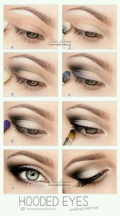 Best Eyeshadow Tutorials - Hooded Eyes - Easy Step by Step How To For Eye Shadow - Cool Makeup Tricks and Eye Makeup Tutorial With Instructions - Quick Ways to Do Smoky Eye, Natural Makeup, Looks for Day and Evening, Brown and Blue Eyes - Cool Ideas for B Eye Makeup Tips, Smokey Eye Makeup, Beauty Makeup, Makeup Tricks, Makeup Ideas, Diy Makeup, Makeup Tools, How To Do Makeup, Unique Makeup