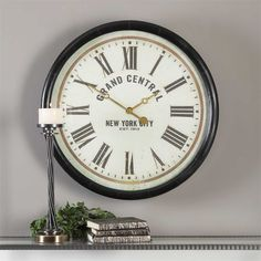 """New from #uttermost #clocks a bold 30"""" nice statement timepiece"""