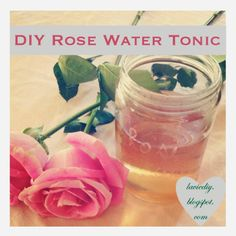 I've been meaning to write this very simple tutorial for.errrr (Sandlot, anyone? Probably a year or two. Sandlot, Tonic Water, Girly Things, Girly Stuff, Homemade Beauty Products, Natural Skin, Natural Beauty, Diy Skin Care, Rose Water