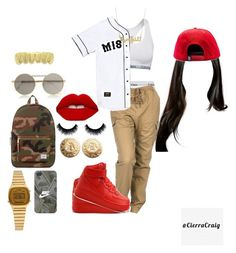"""""""#20"""" by cierracraig on Polyvore featuring NIKE, Calvin Klein Underwear, Calvin Klein, Le Specs, Lime Crime, Herschel Supply Co., Casio, Breezy Excursion, Givenchy and women's clothing"""