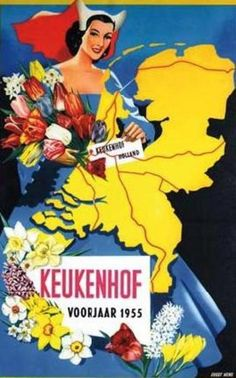 Keukenhof 1955 (Well, yes I've been to Keukenhof, just not in 1955)