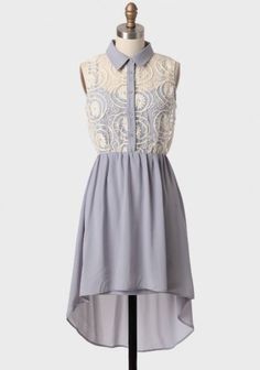 Sigh No More Embroidered Dress