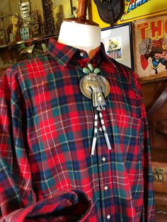 Vintage Pendleton Authentic Christie Tartan Red by TheMaineVintage