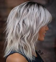 Bildergebnis für long gray hair with bangs