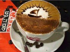 sailboat latte art