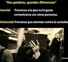 Asocial y antisocial Rare Words, New Words, Cool Words, The More You Know, Did You Know, Medicine Student, Curious Facts, Someone Like Me, Feelings Words