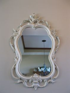 Ornate Syroco Wall Mirror Unique Shape Shabby Chic Cottage Chic 31 X 19 Whitewashed Accent Mirror Ho Mirror Wall Accent Mirrors Shabby Chic Cottage