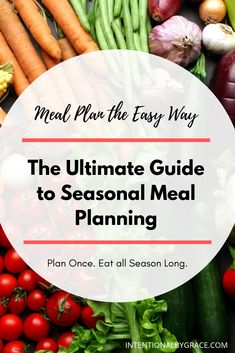 How to Meal Plan the Easy Way - The Ultimate Guide to Seasonal Meal Planning - Intentional By Grace Freezer Cooking, Freezer Meals, Frugal Meals, Southwest Chicken Crockpot, Real Food Recipes, Healthy Recipes, Budget Recipes, Healthy Drinks, Baked Chicken Tenders