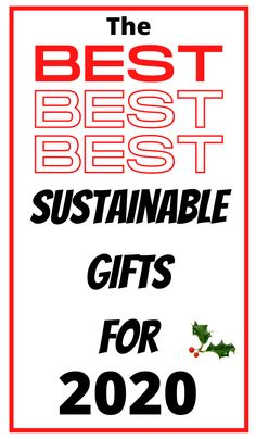 the best sustainable gifts for 2020