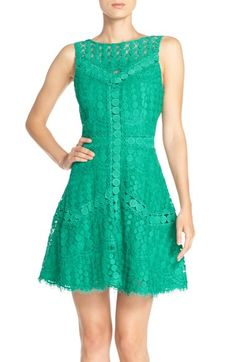 Adelyn Rae Lace Fit & Flare Dress available at #Nordstrom