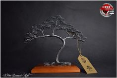 Wire bonsai tree great for the salon Silver Color, Golden Color, Bonsai Wire, Wire Trees, Jewelry Hanger, Real Wood, Decorating Your Home, Wire Art, Friends In Love
