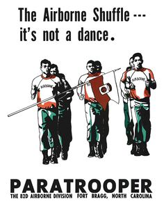 82nd Airborne Posters | Details about 82nd Airborne Shuffle Paratrooper Recruitment Poster