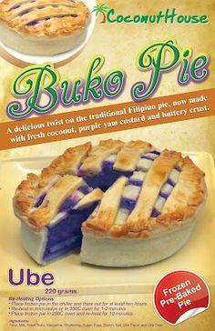 Buko Pie in Ube Flavor Filipino Dishes, Filipino Desserts, Asian Desserts, Filipino Recipes, Filipino Food, Buko Pie, Ensaymada Recipe, Yema Cake, Pie Recipes