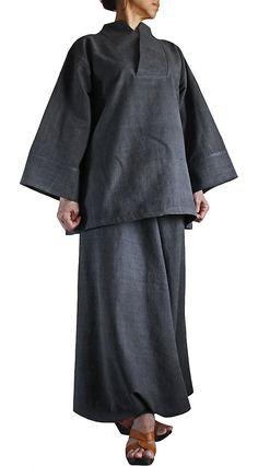 ChomThong Hand Woven Cotton Japanese kimono Oriental by SawanAsia