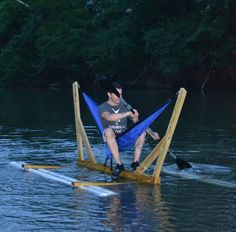 The ENO solo hammock raft from #OurLifeOutside!!!