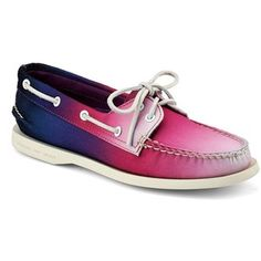 Authentic Original Ombre Boat Shoe by Sperry Top-Sider on Loafer Shoes, Loafers, Flats, Purple Shoes, Sperry Top Sider, Crazy Shoes, Sperrys, Designer Shoes, Boat Shoes