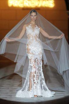 Karolina Korkova for Pronovias at Barcelona Bridal Week 2014