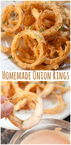 Onion Rings are the perfect appetizer or accompaniment to any burger or sandwich! Homemade Onion Rings are the perfect appetizer or accompaniment to any burger or sandwich! Onion Rings are the perfect appetizer or accompaniment to any burger or sandwich! Homemade Onion Rings, Onion Rings Recipe, Snacks Sains, Think Food, Oreo Dessert, Ground Beef Recipes, Cookies Et Biscuits, Clean Eating Snacks, Vegetable Recipes