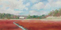 paintings of cape cod cranberry bogs | ... Cranberry Bog Painting - Mid-winter Cranberry Bog Fine Art Print