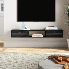 Latitude Run® Connie-Agnes TV Stand | Wayfair Floating Tv Console, Floating Tv Stand, Floating Desk, Floating Shelves, Floating Nightstand, Mid-century Modern, Modern Design, Smart Design, Contemporary