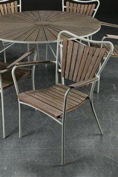 Vare: 3726948 Mandalay. Havemøbler af teak, bord samt stole (7)
