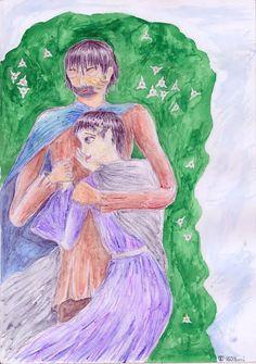 Ilustrace ke knize Silmarillion od J. R. R. Tolkiena. Zachycuje milence Berena a Lúthien, k jejichž příběhu byl autor inspirován svou milovanou manželkou.