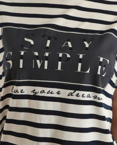 T-shirt a righe asimmetrica bianco