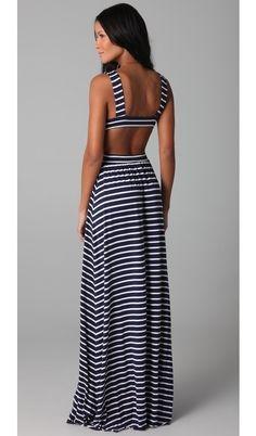 Stipe Cutout Dress