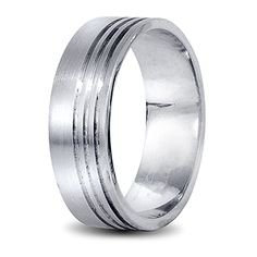 Mens wedding ring white gold White Gold Wedding Rings, White Gold Rings, Wedding Men, Rings For Men, Bands, Engagement Rings, Jewels, Design, Rings For Engagement