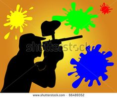Paintball Players Silhouette Vector | Download Free Vector Art | Free-Vectors