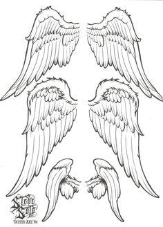 Tribal Tattoos, Body Art Tattoos, Small Tattoos, Celtic Tattoos, Wing Tattoos, Tatoos, Angel Wings Drawing, Angel Wings Art, Graffiti Tattoo
