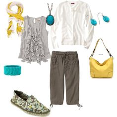 the beach in spring by amanda-key-bennett on Polyvore featuring Merona, CREAM, Old Navy, Capelli New York, Fantasy Jewelry Box, Becky Kelso and BCBGMAXAZRIA
