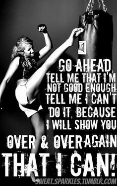 """:]] oh yes!! and i keep proving """"them"""" wrong every single time! #workoutjunky"""