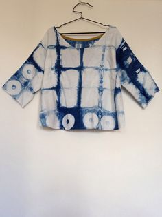 Taproot Tunic in indigo dyed fabric - 100 Acts of Sewing