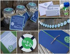 Wedding Shower Ideas that can be incorporated into birthday party ideas for a nautical theme.