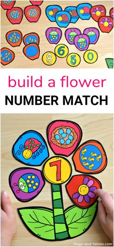 This is a fun number matching printable activity for kids to practice numbers and counting! #counting #printablesforkids