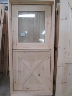 Your home for custom wood doors. We specialize in hand crafting pine doors as well as doors built from Ash, Oak, Cherry, Mahogany, or Walnut. Decorative Shelf, Custom Wood Doors, Pine Doors, Natural Homes, Dutch Door, Kitchen Remodel, Diy Ideas, Exterior, Shelves