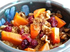 Persimmon Cranberry Quinoa Breakfast | taste love and nourish